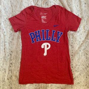 Nike MLB Phillies Women's V-neck